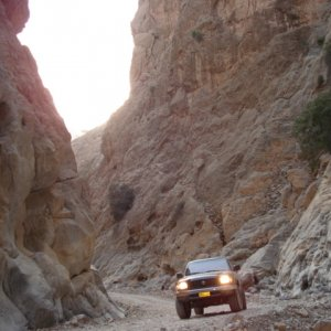 In a Wadi (dry valley)